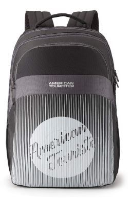 Apply 10% Coupon - American Tourister Crone 28 Ltrs Black Casual Backpack